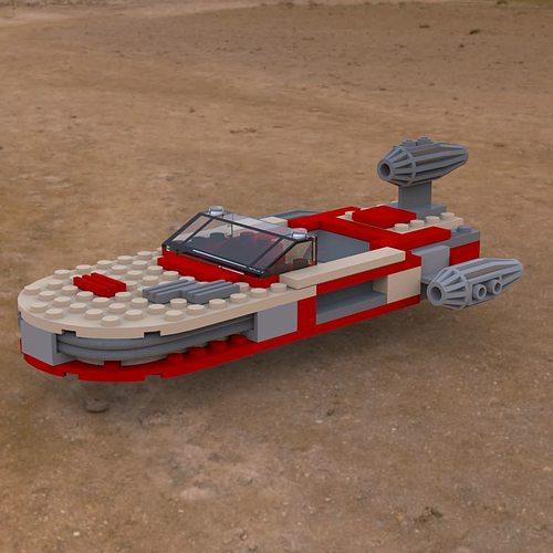 Modular Brick Landspeeder obj 3D model   CGTrader