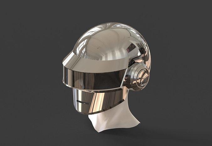 Daft Punk Silver Helmet