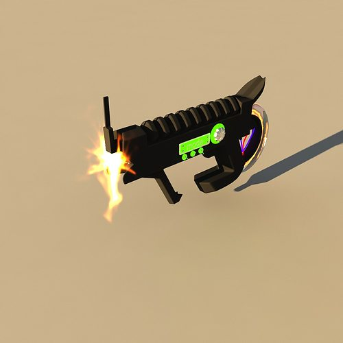3d model futuristic weapon cgtrader for Futuristic household items