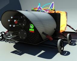 future weapon vehicle 3D asset