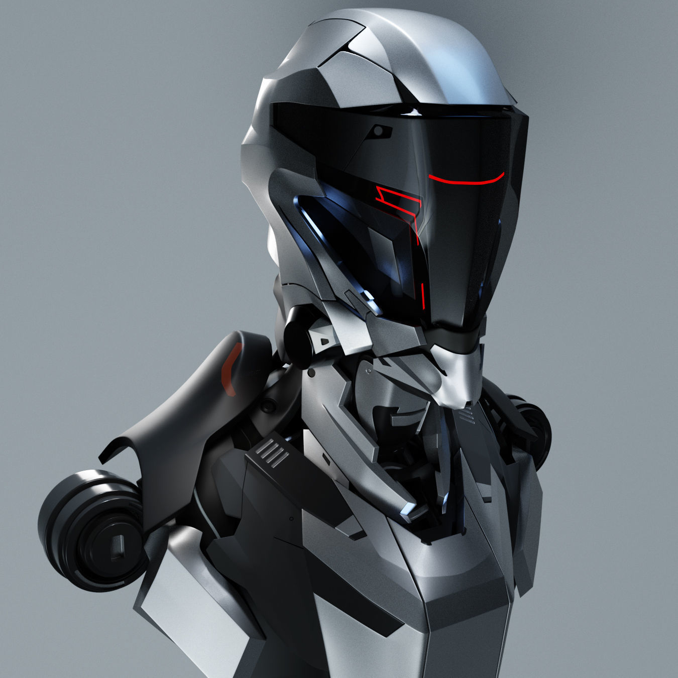Sci-Fi Male Character 3D Model OBJ ZTL | CGTrader.com