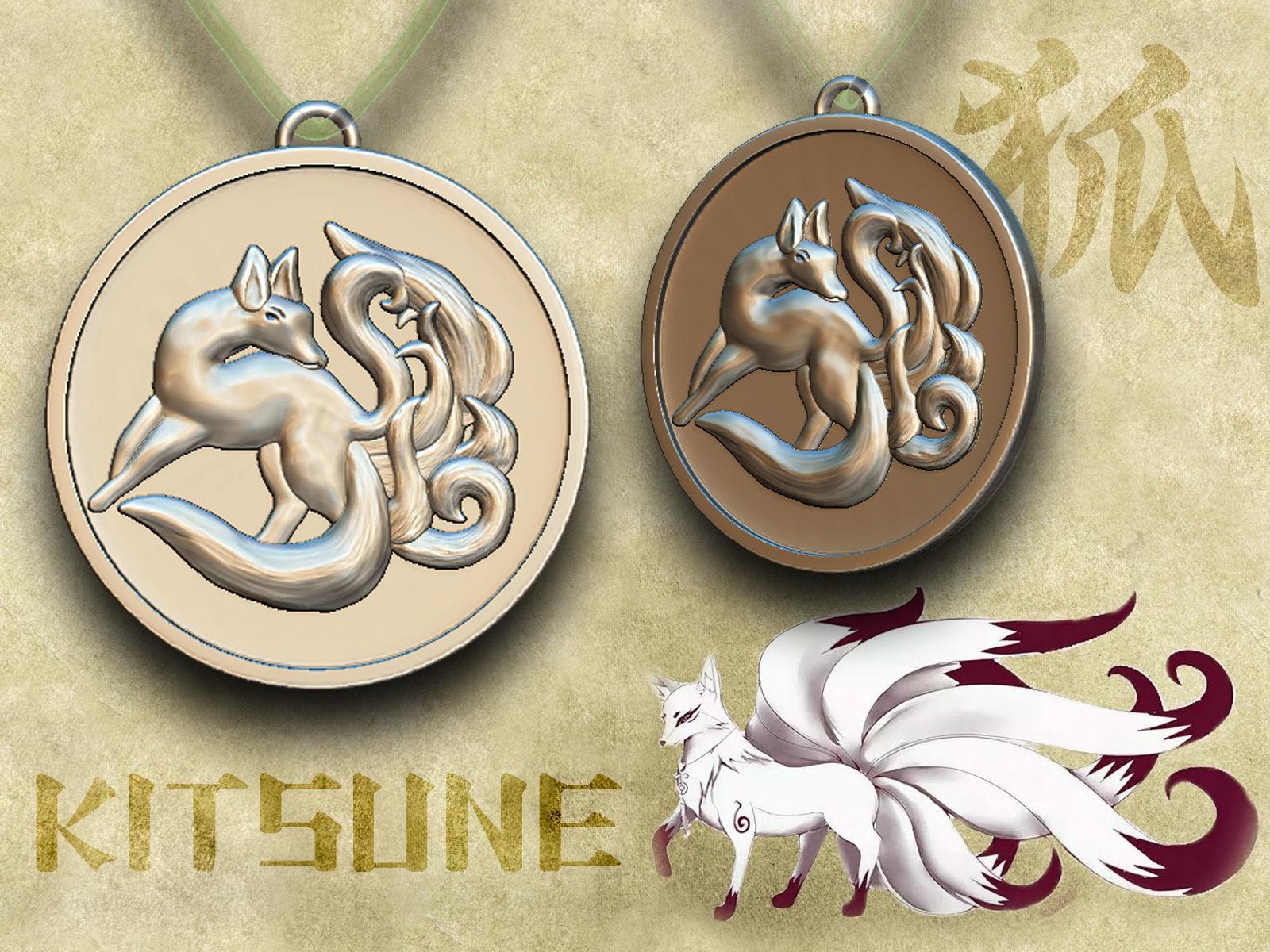 Medallion of Kitsune - nine-tailed fox
