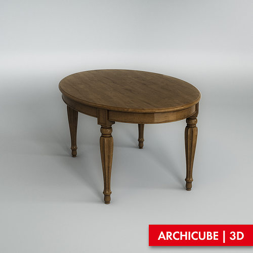 3d model furniture dining table cgtrader for Dining table models