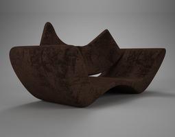 3D Velvet brown vray material