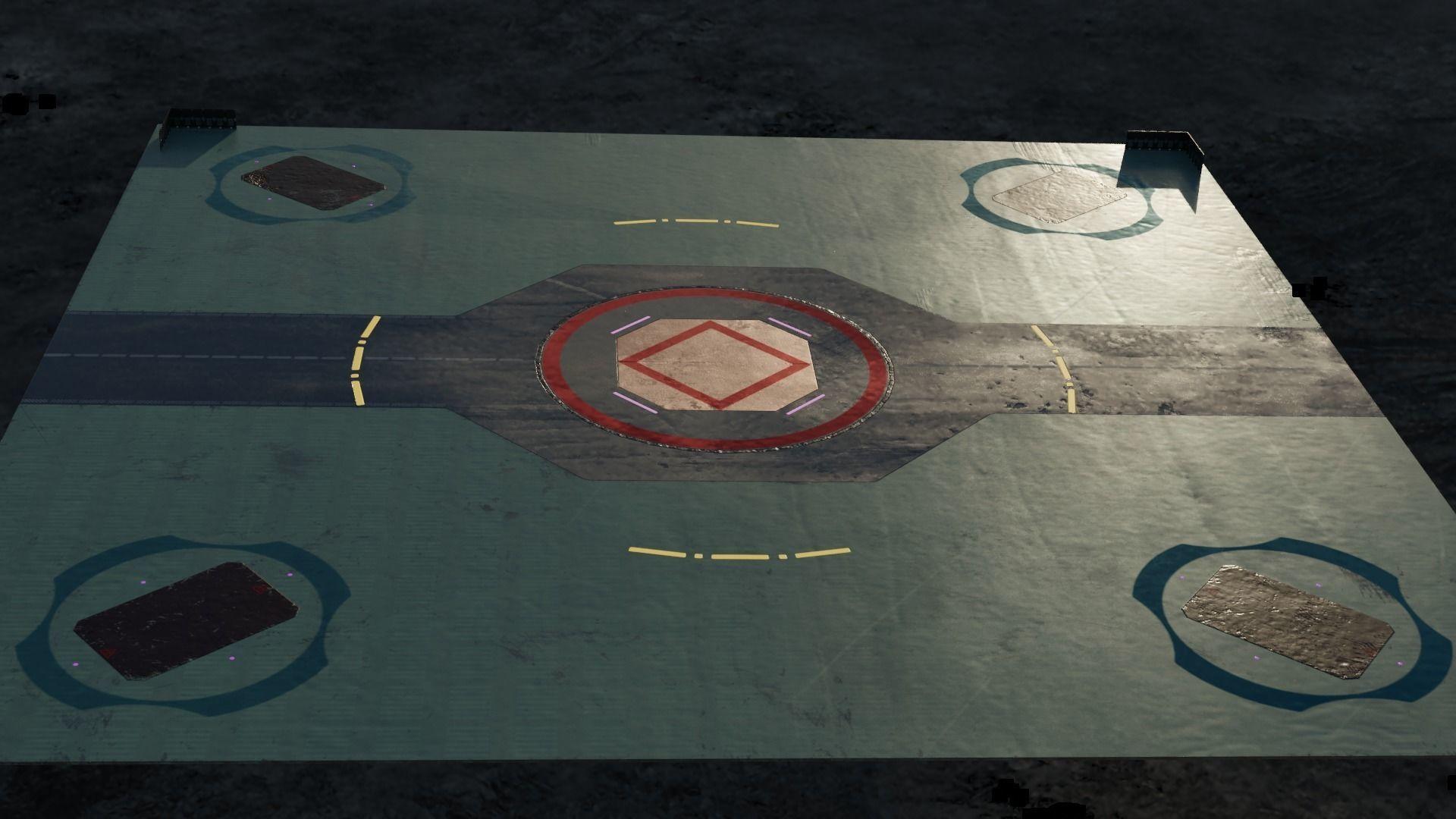 Futuristic Landing Pad