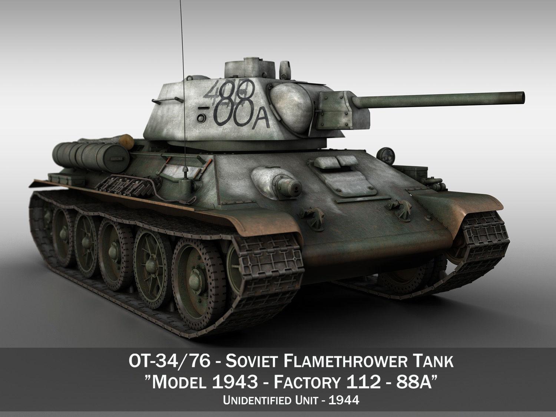 OT-34-76 - Soviet Flamethrower Tank - 88A