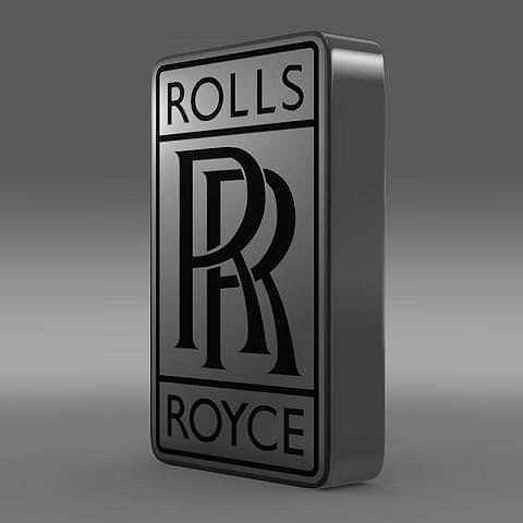 3d rolls royce logo cgtrader. Black Bedroom Furniture Sets. Home Design Ideas