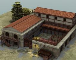 3D asset Roman Villa