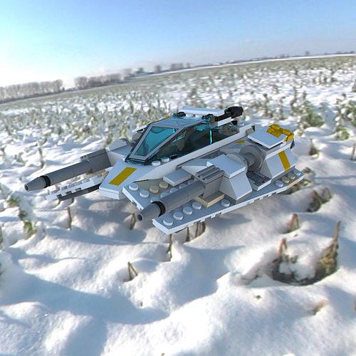 Modular Brick Snowspeeder 3D model   CGTrader