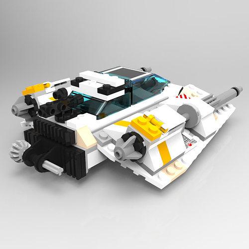 Modular Brick Snowspeeder free 3D Model OBJ MTL   CGTrader.com