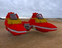 3d model modular brick twinpod cloud car