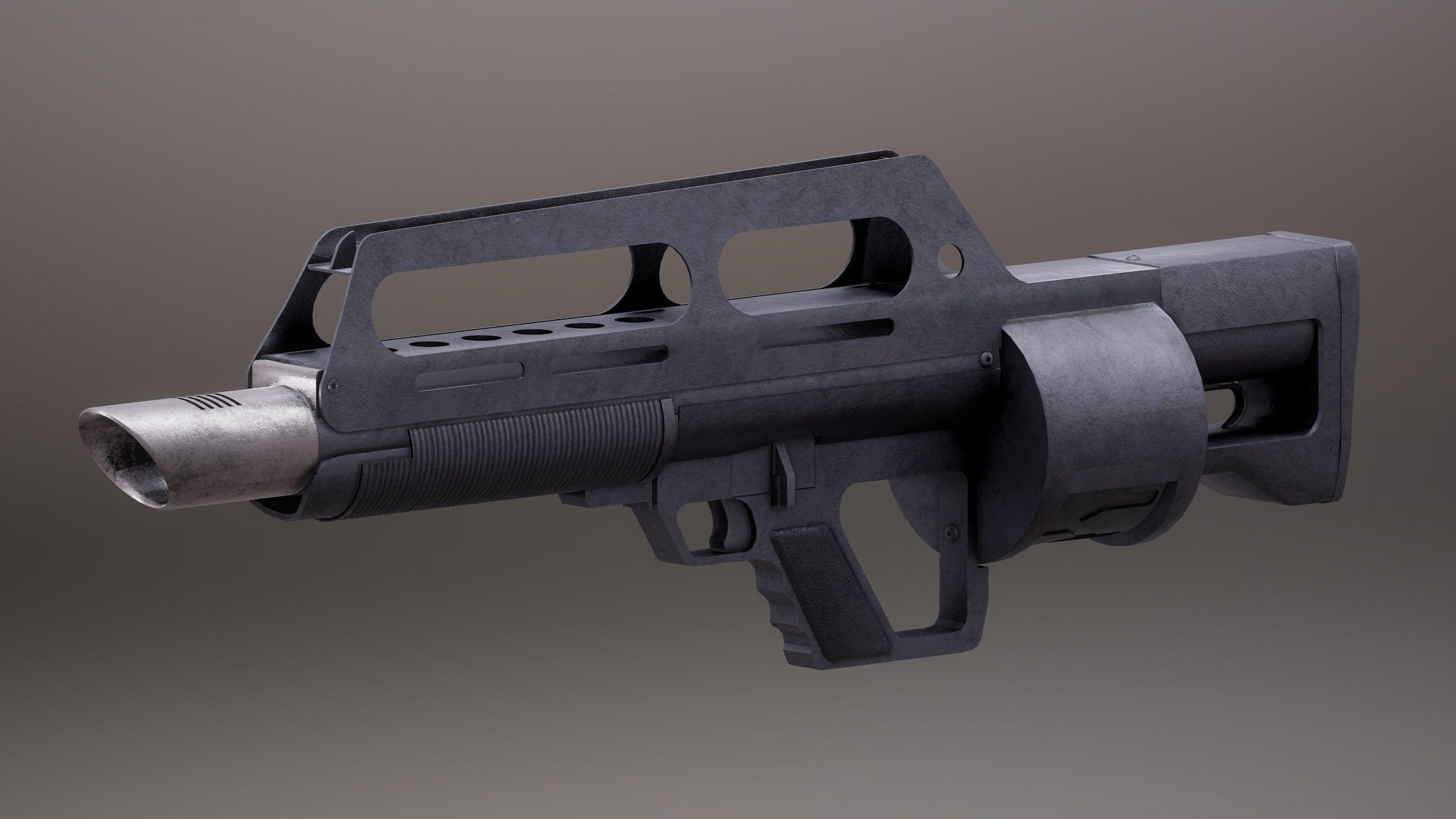 Pancor Jackhammer Rigged PBR