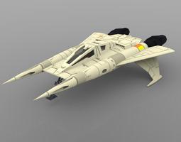 3D model Buck Rogers Starfighter