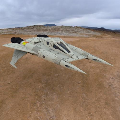 buck rogers starfighter 3d model obj 3
