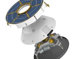 3d mars curiosity msl spacecraft and skycrane