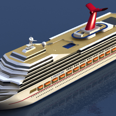 Cruise Ship 3d Model 3ds Lwo Lw Lws Cgtrader Com