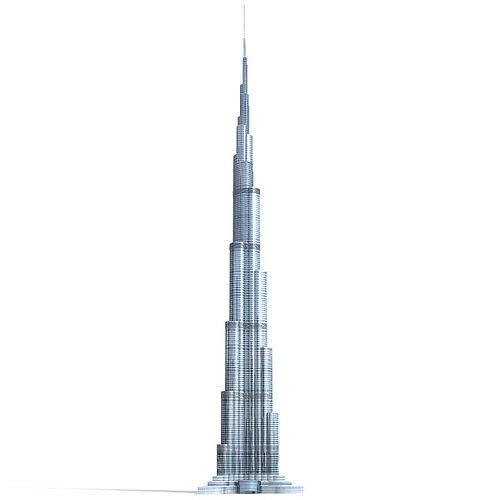 burj khalifa 3d model 3ds lwo lw lws 1