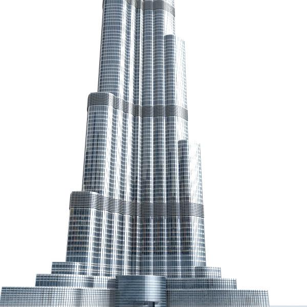 Burj khalifa tower 3d models for download   turbosquid.