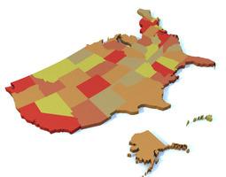 united states map 3d model