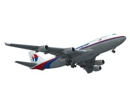 3D 747-400 Malaysia Airlines