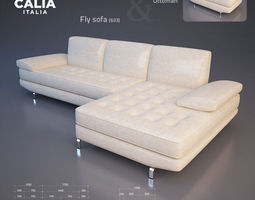 calia italia - fly sofa 3d model