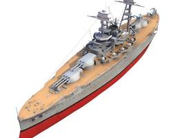 3D model BB 36 USS Nevada 1941