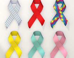 Awareness Ribbon Collection 3D