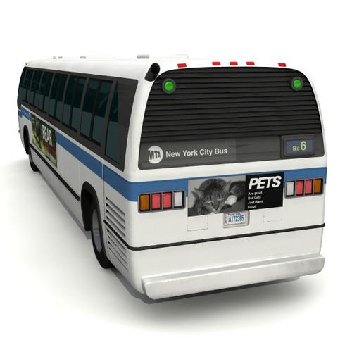 RTS 06 Bus 3D Model .obj .3ds .lwo .lw .lws