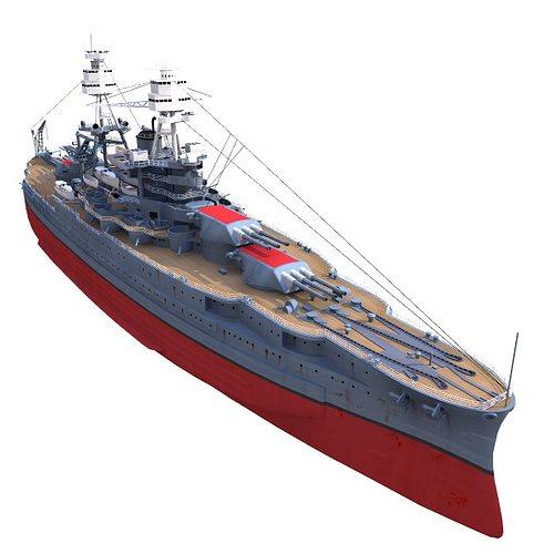 bb-39 uss arizona 1941 battleship 3d model 3ds lwo lw lws 1