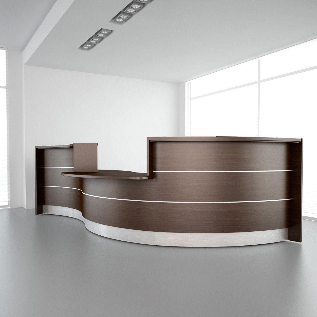 Reception Desk 01 3d Model Max Obj Fbx 1