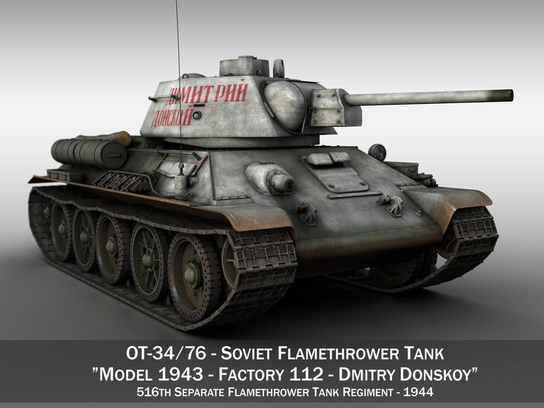 OT-34-76 - Soviet Flamethrower Tank - DD