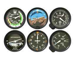 3d aviation instruments six pack