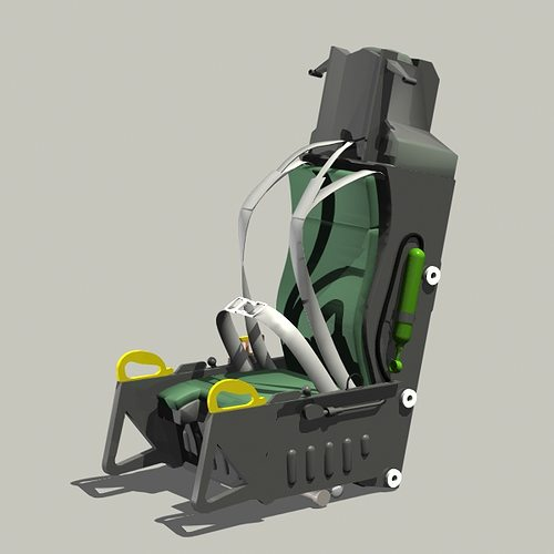 aces ii ejection seat 3d model 3ds lwo lw lws 1