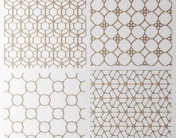 Set panel lattice grille 3D 44