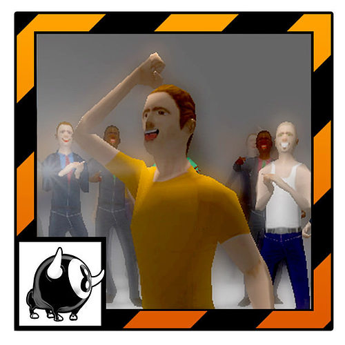 audience unity ready 3d model low-poly rigged animated max obj mtl 3ds fbx dae 1