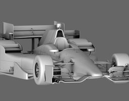 3d model game-ready indy car honda 2015