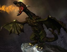 3d model highly detailed dragon