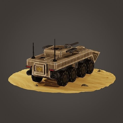 stylized soldier carrier