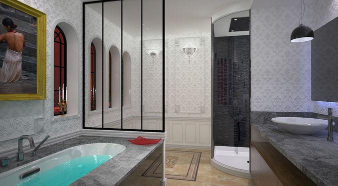 Bathroom Model bathroom 3d model skp