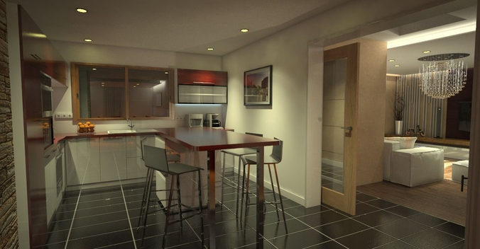 Kitchen 3d Model dishwasher 3d model kitchen   cgtrader