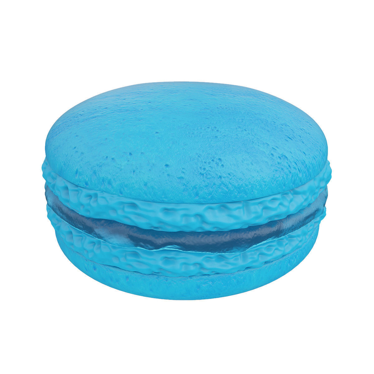 Blue macaroon with jam