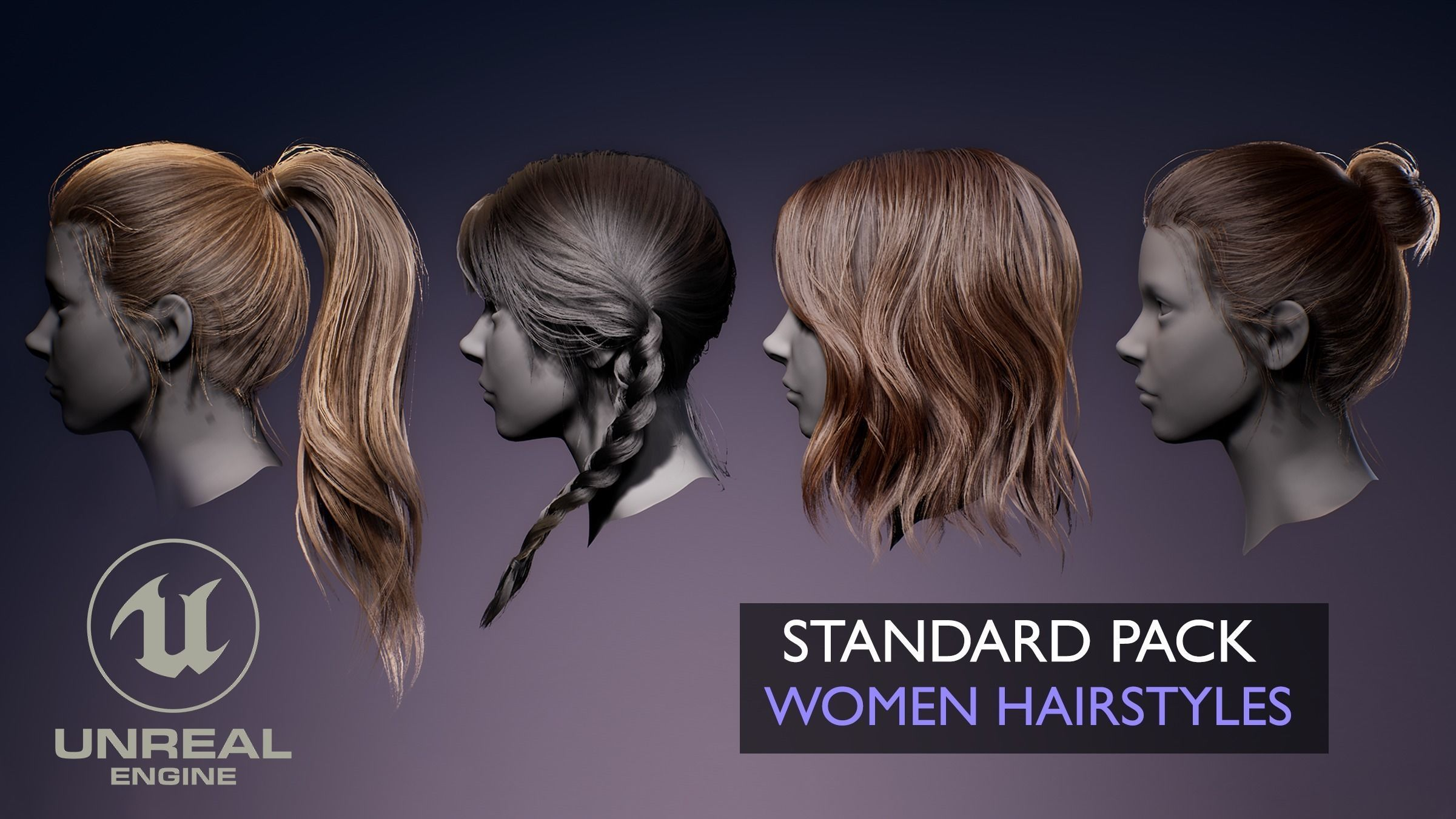 Real-time Women Hairstyles - Standard Game Pack