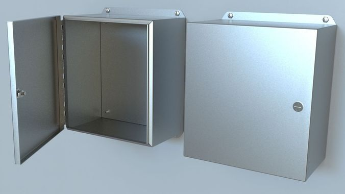 3D Electrical Steel Panel Box | CGTrader