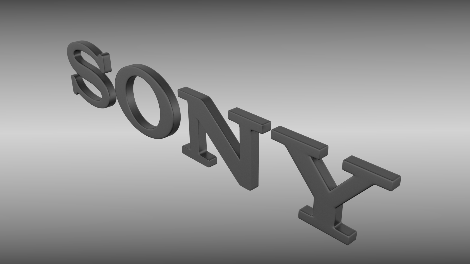 sony logo 3d model | cgtrader