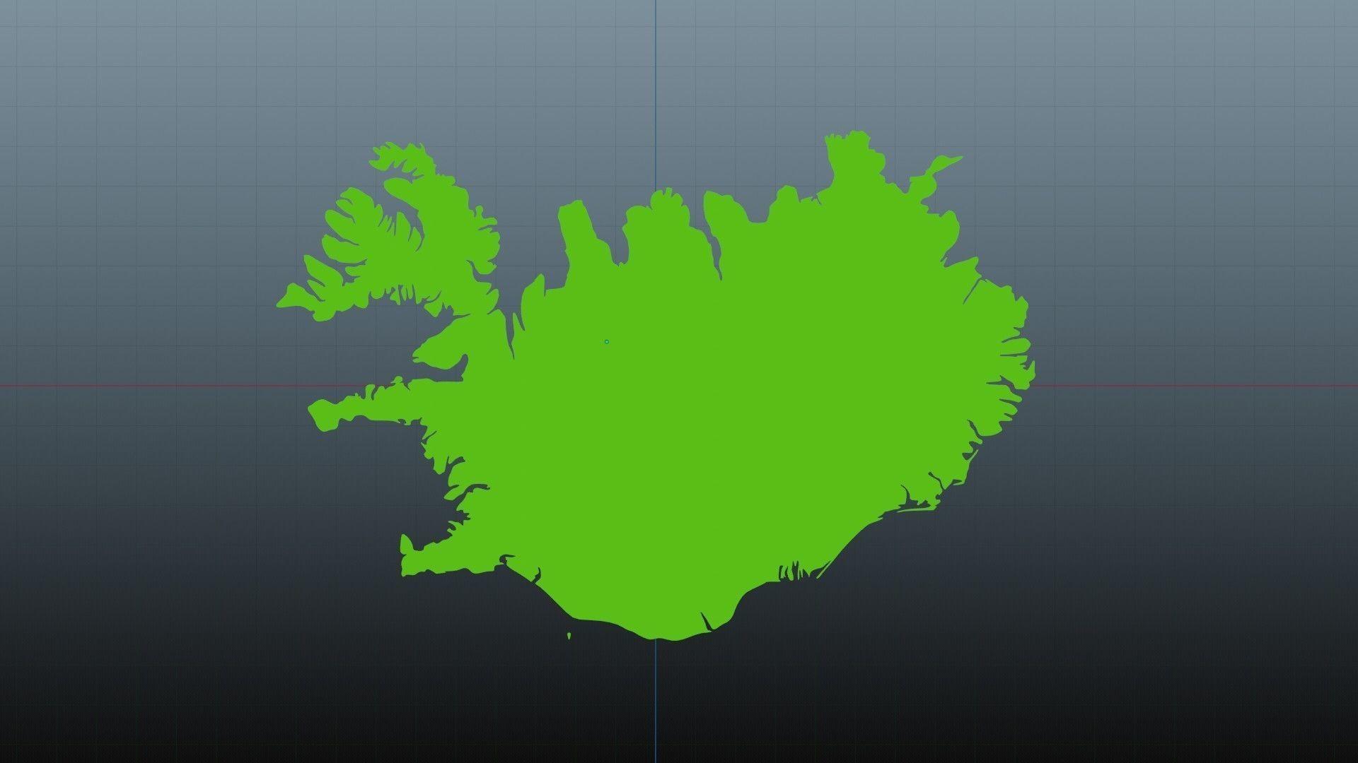 Iceland map symbol