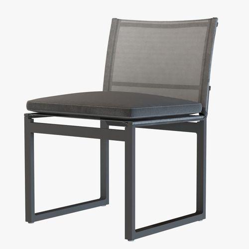 aegean aluminum side chair by restoration hardware 3d model max obj