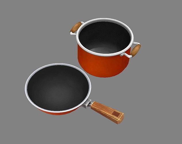 Cartoon pots - pan -soup pot