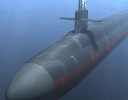 3D model Ohio Class Submarine