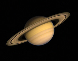 Planet Saturn 3D model