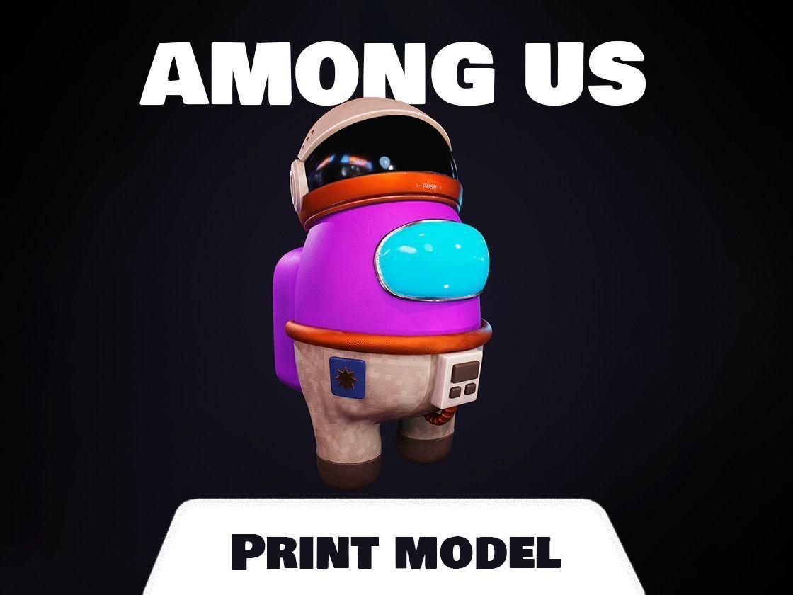 Among us Print Model - Astronaut Skin